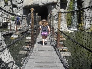 fun bridges and caves to explore