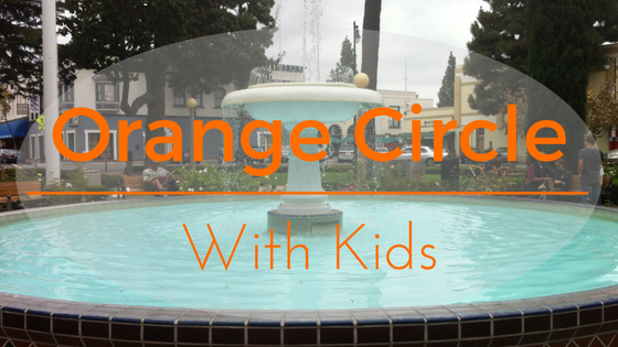 Orange Circle with kids