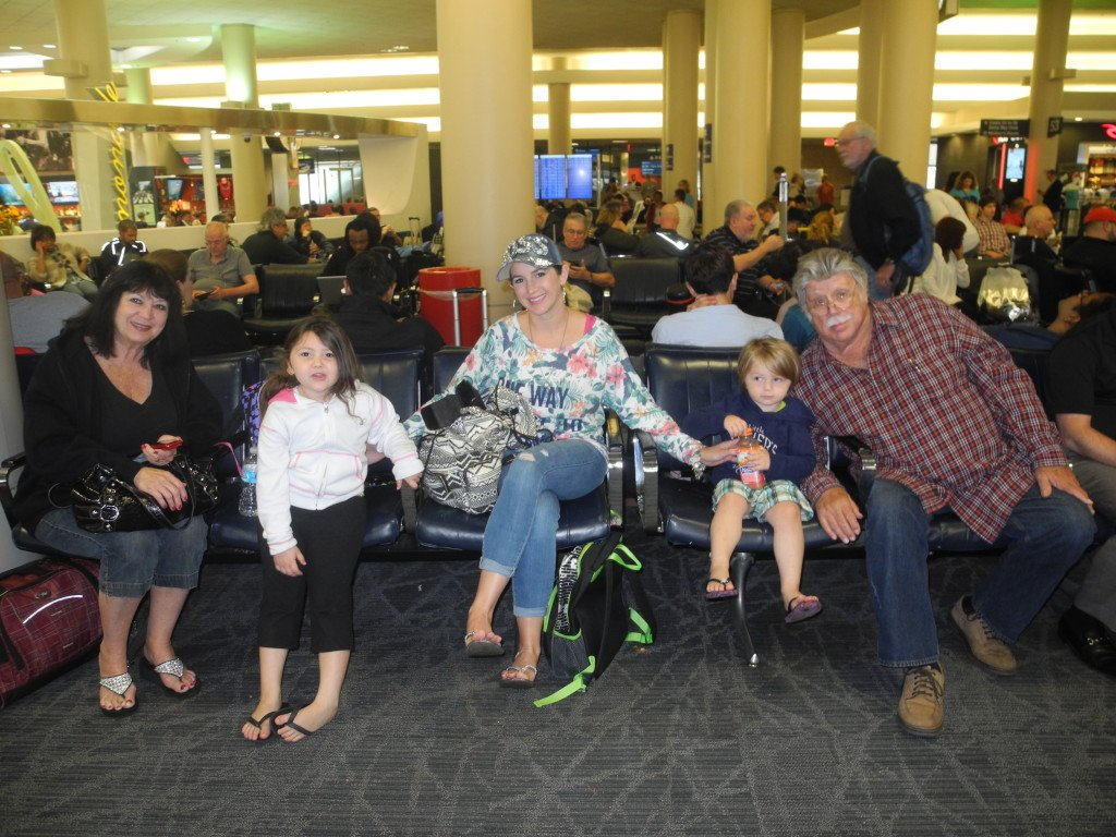 At our gate in LAX