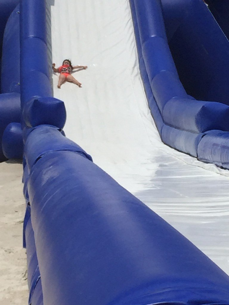 Water slide at Tradewinds