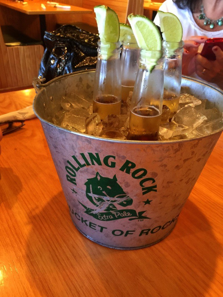 Bucket of Coronas at Beef O'Brady's