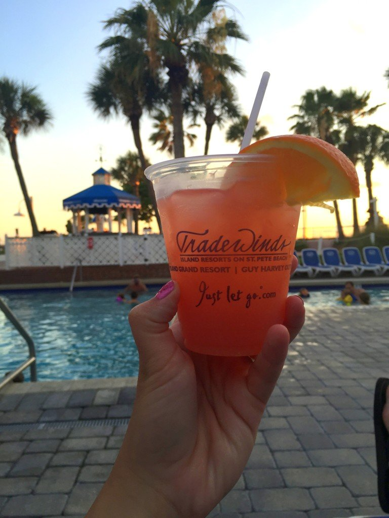 Night swimming & cocktails at Tradewinds Resort