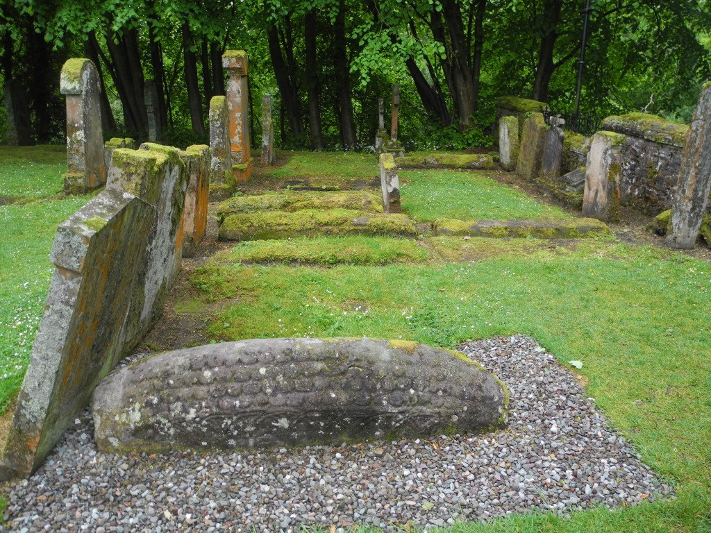 Hogback viking grave in Luss Scotland