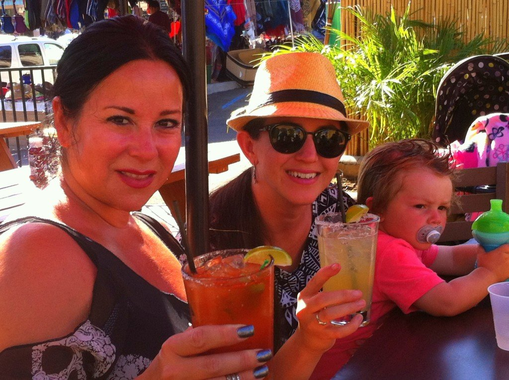 Sis and HotMama enjoying Michelada & Chelada