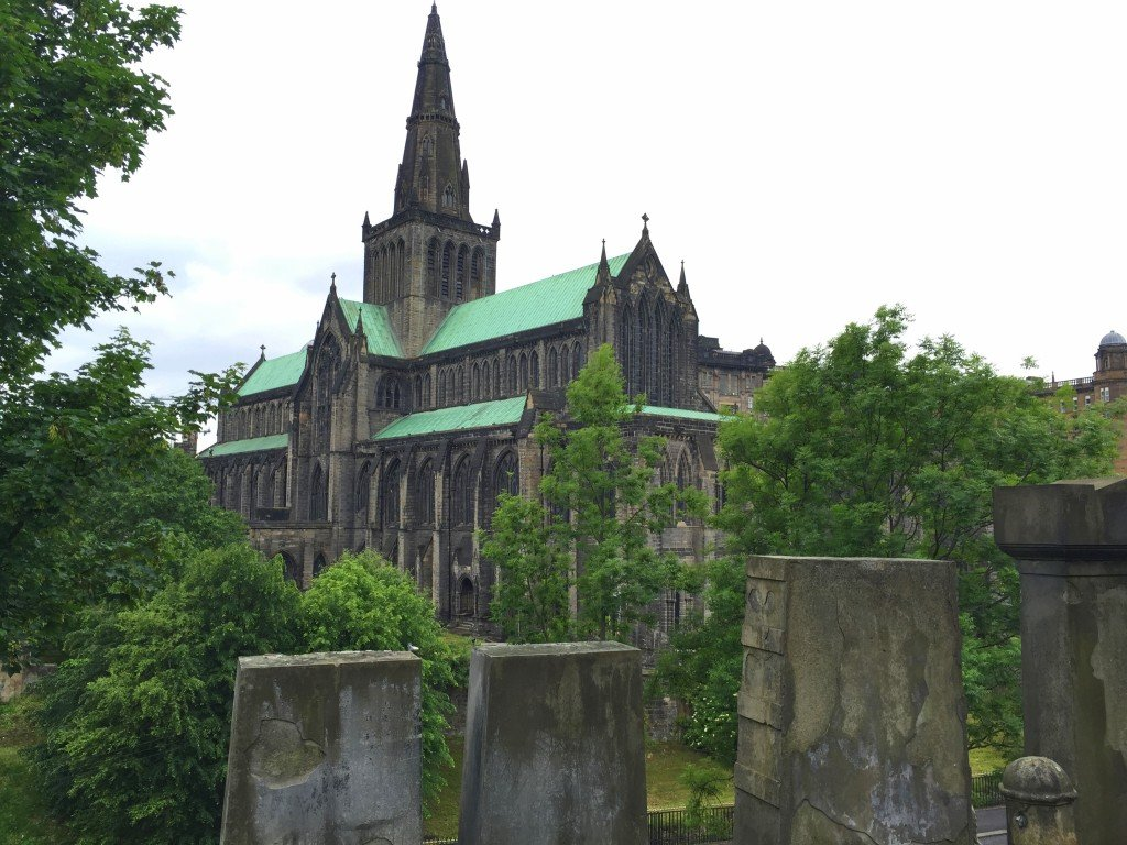 Necropolis overlooking the Glasgow Cathedral
