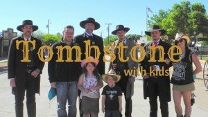 Tombstone with kids