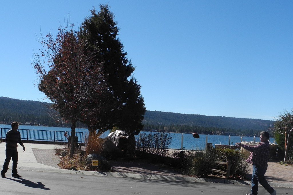 Big Bear rv resort playing football