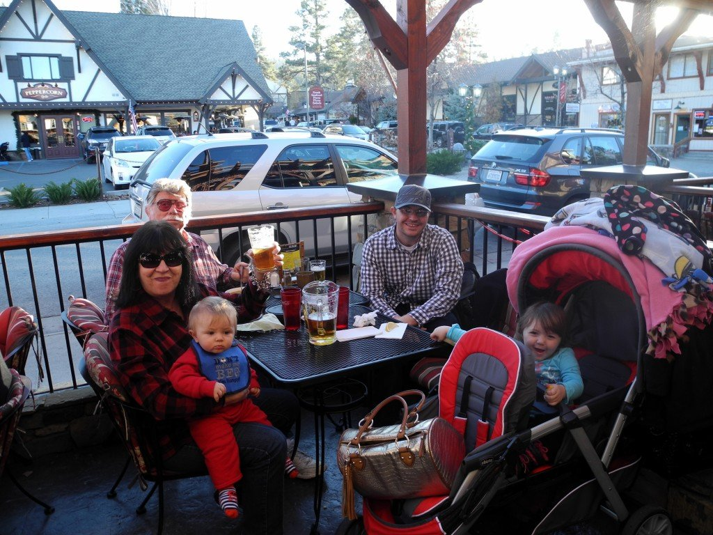 Big Bear family dining with kids