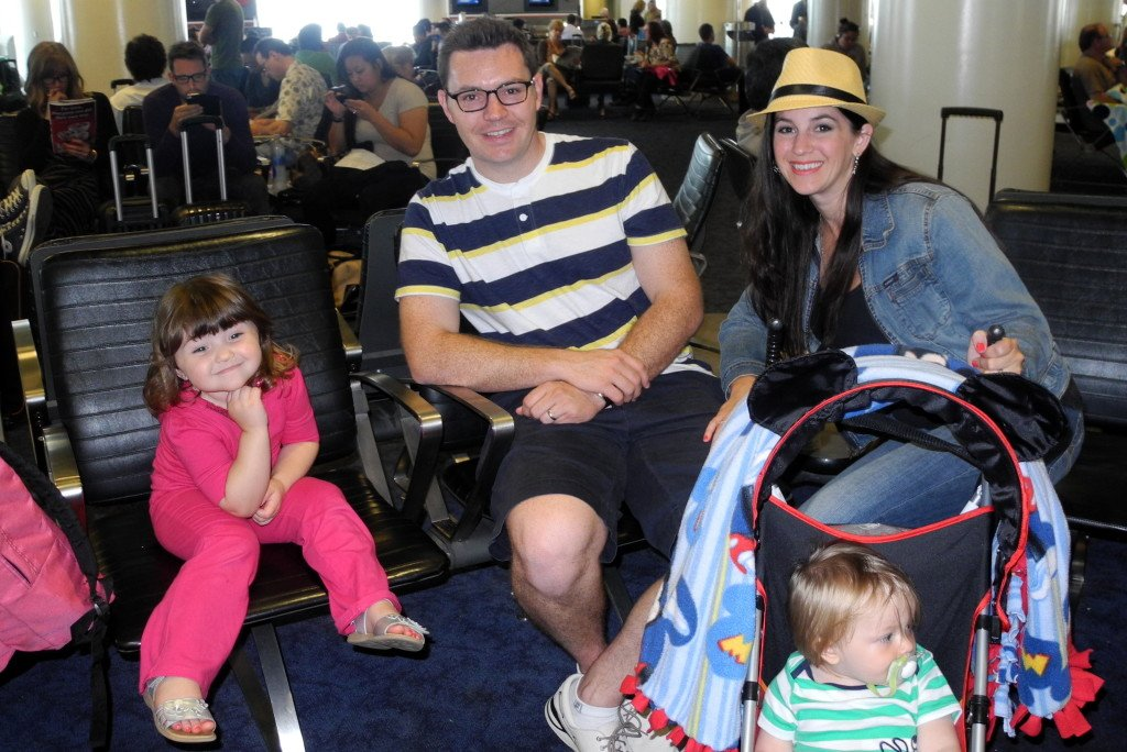 Flying with kids with umbrella strollers