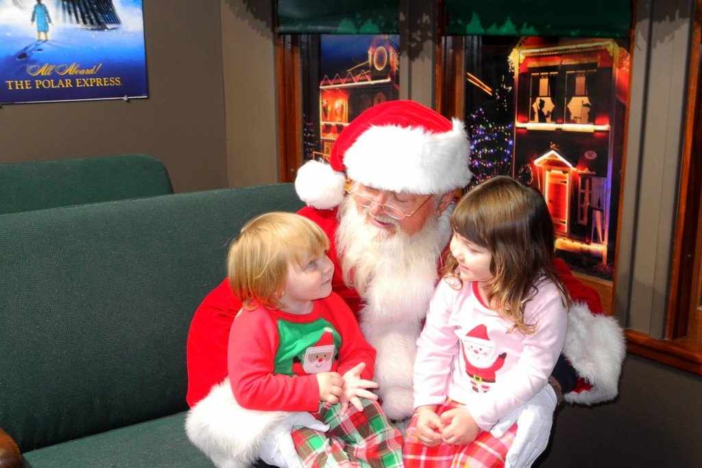 Kids meet Santa at Polar Express AZ