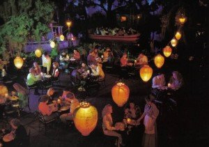 family at blue bayou restaurant