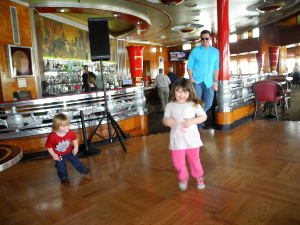 Kids dancing on Queen Mary Long Beach