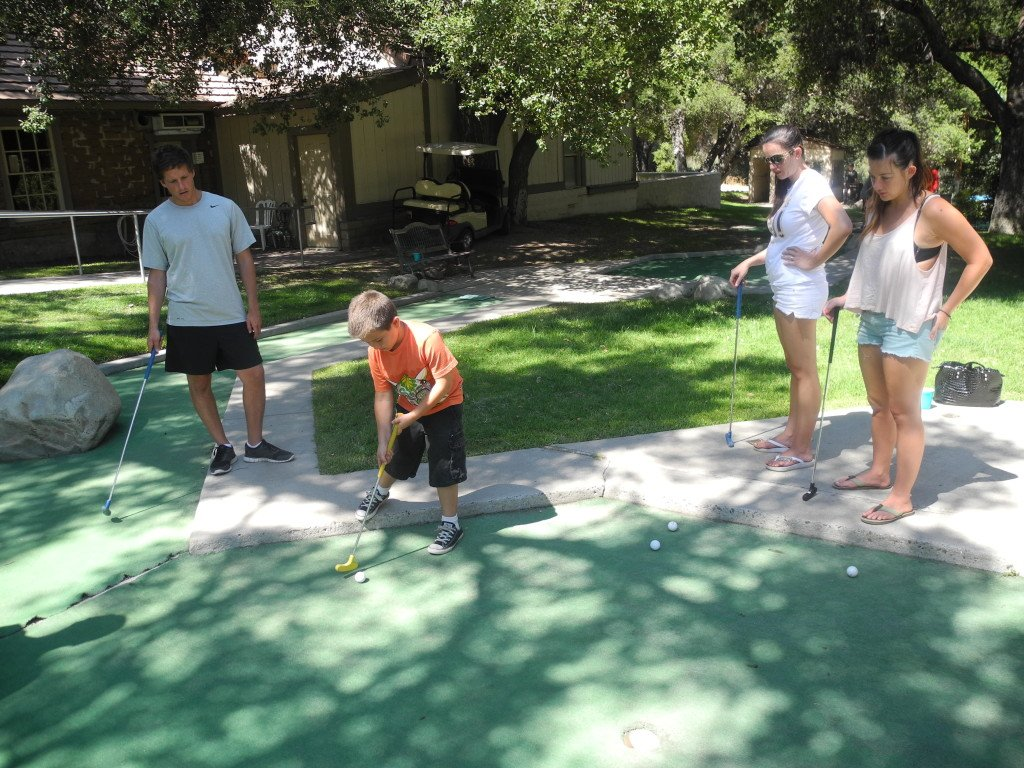 Miniature Golf with kids at Vail Lake Resort