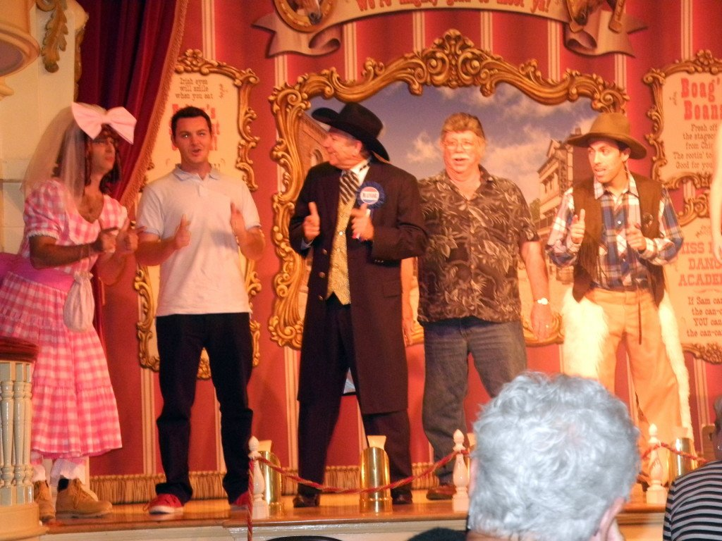 Dad on stage at Golden Horseshoe