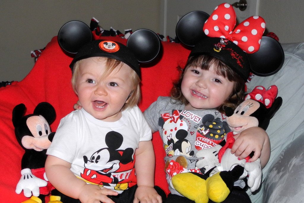 Kids with Mickey Ears