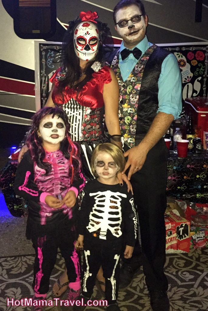 Vail Lake Resort family dressed as zombies halloween