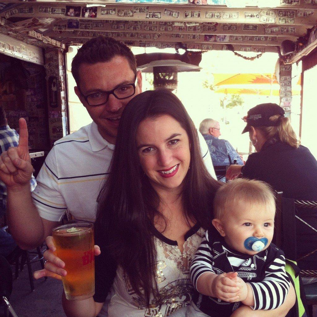Parents and baby at Vail Lake Resort