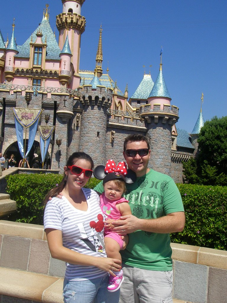 Disneyland with Kids front of Castle