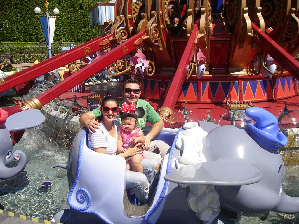 Disneyland Dumbo Ride with kids