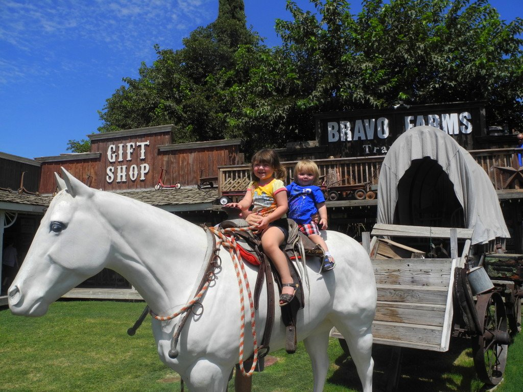 Cute Kids on Horse at Bravo Farms