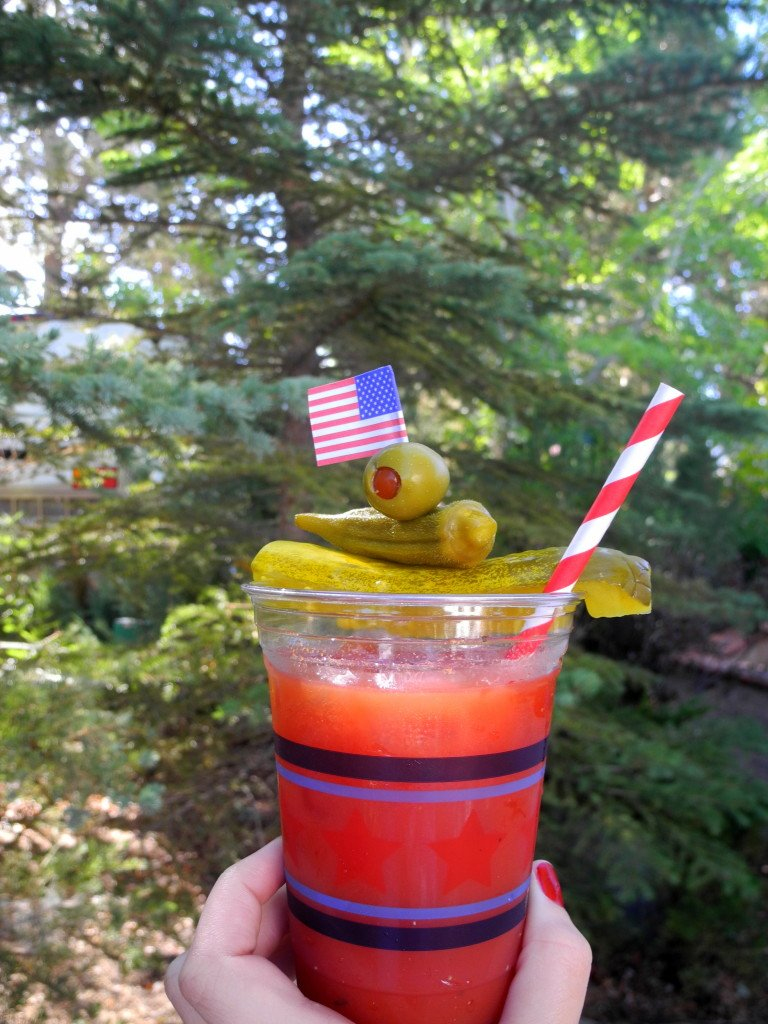 Big Bear Shores RV bloody mary drink