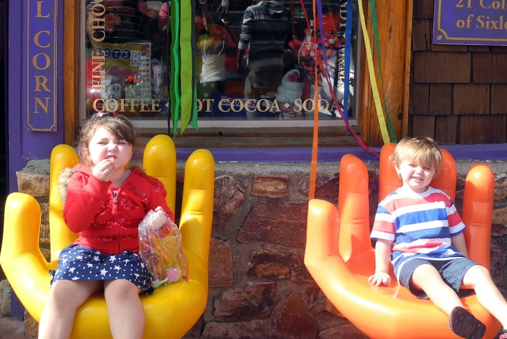 Kids at Candy store in Big Bear Lake