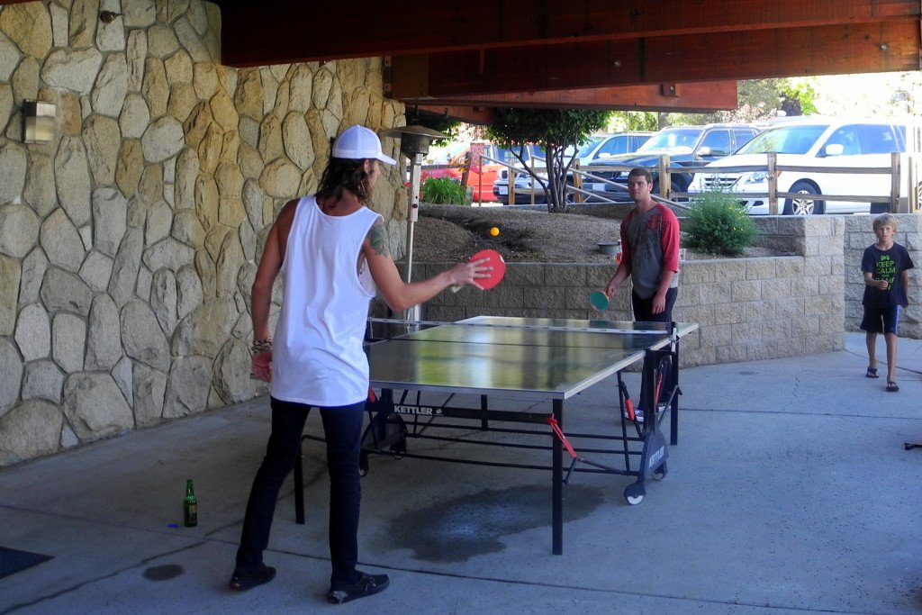 Big Bear Shores RV Resort play ping pong