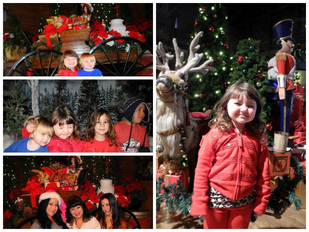 Inside Santa's Christmas Cabin during Knott's Merry Farm