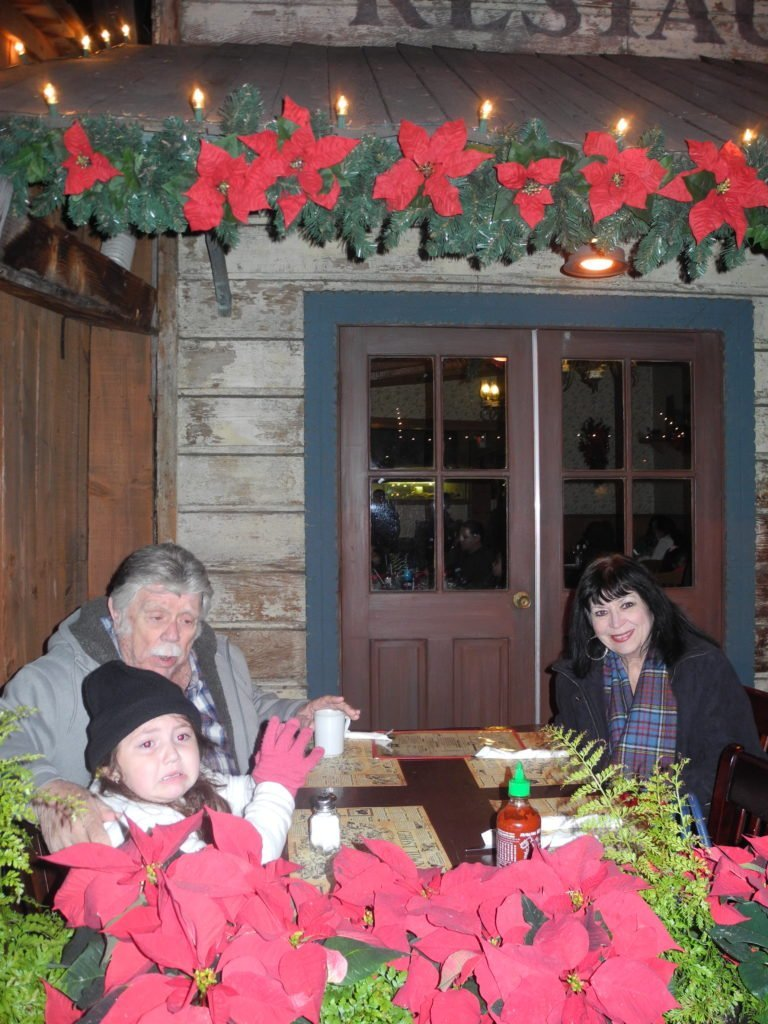 Ghost Town Grill at Knott's Berry Farm during the holidays