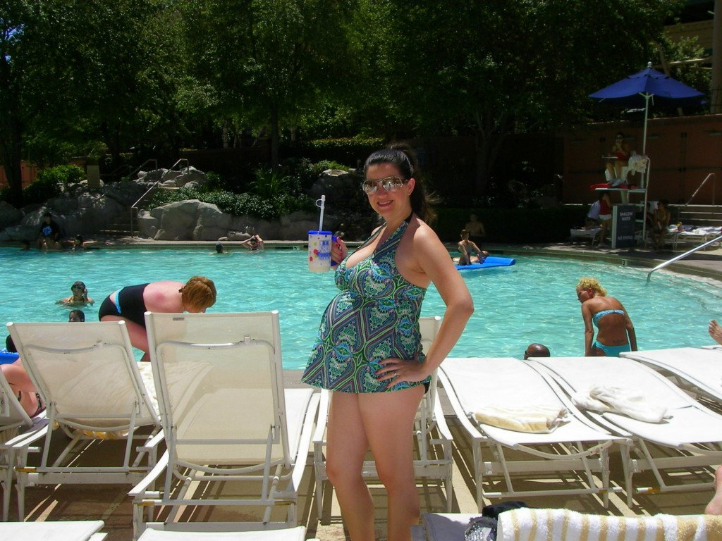 Pregnant at Pool Las Vegas