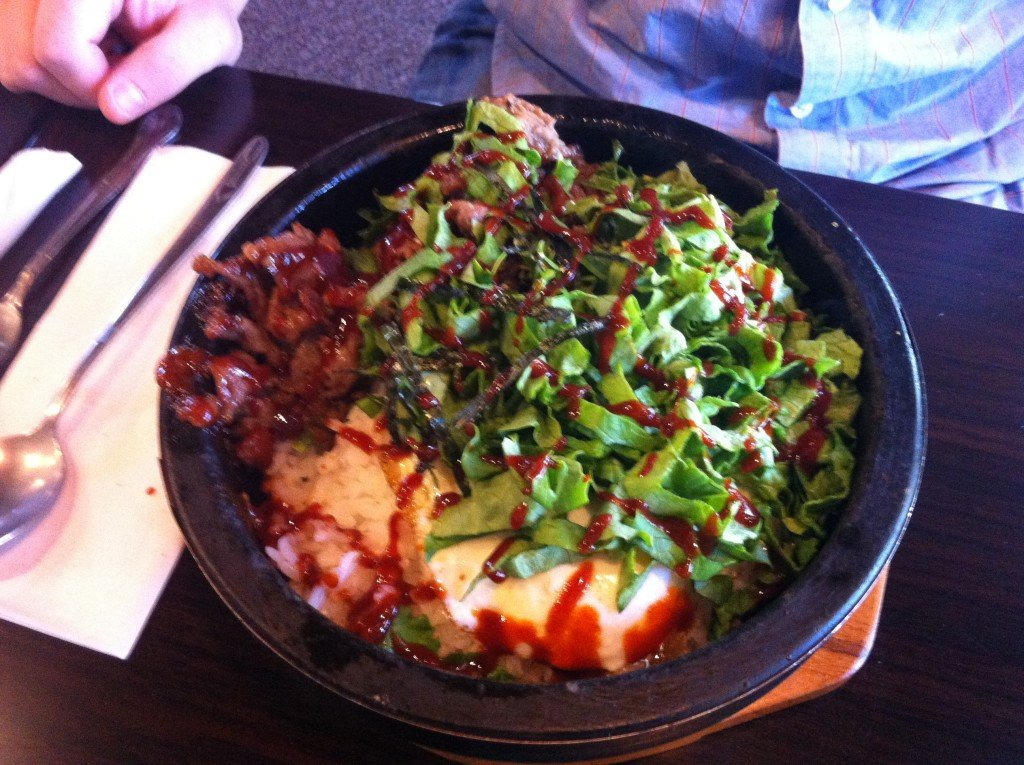 Bibimbap at Mile High Cafe in Idyllwild