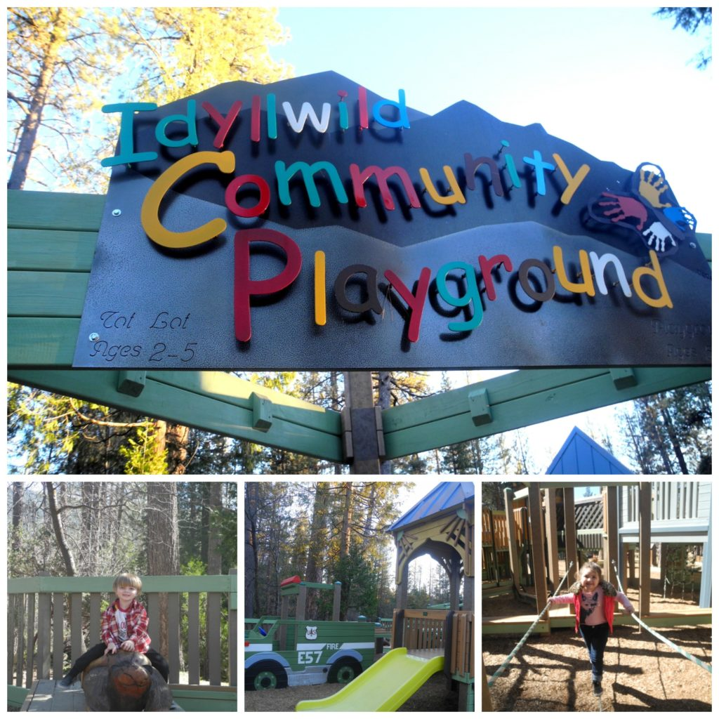 Idyllwild community playground with kids
