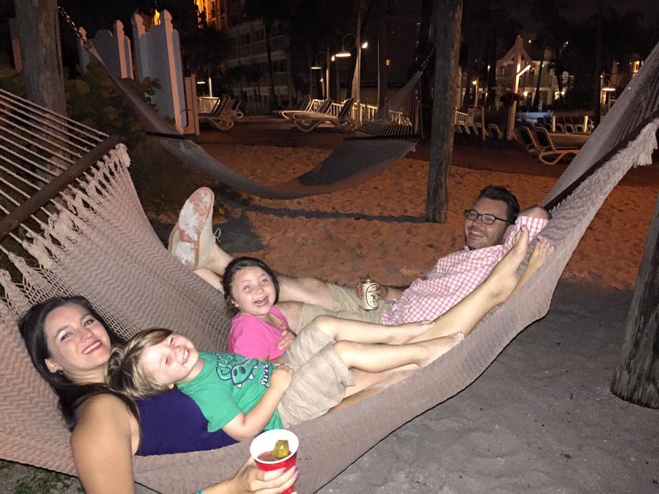 Hanging out on the hammocks at Tradewinds Island Grand