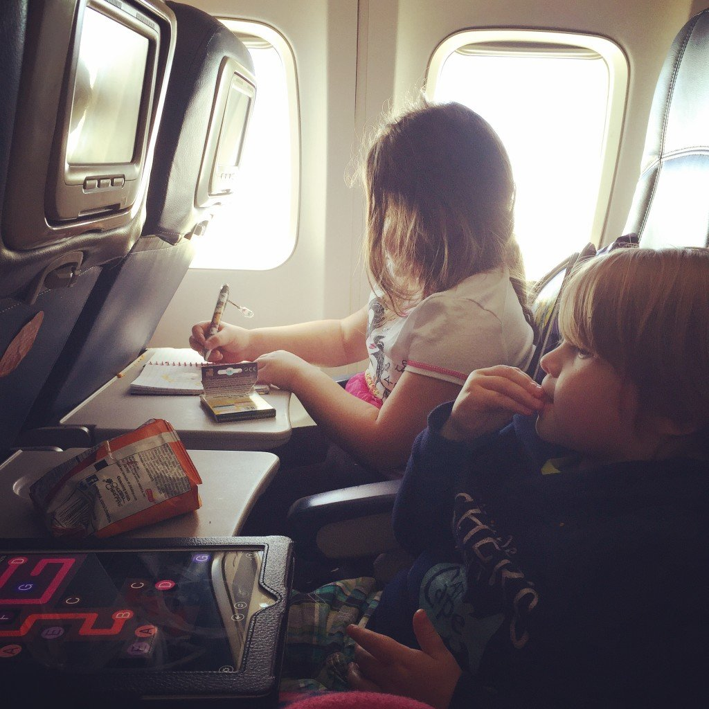 Keeping kids entertained during flights