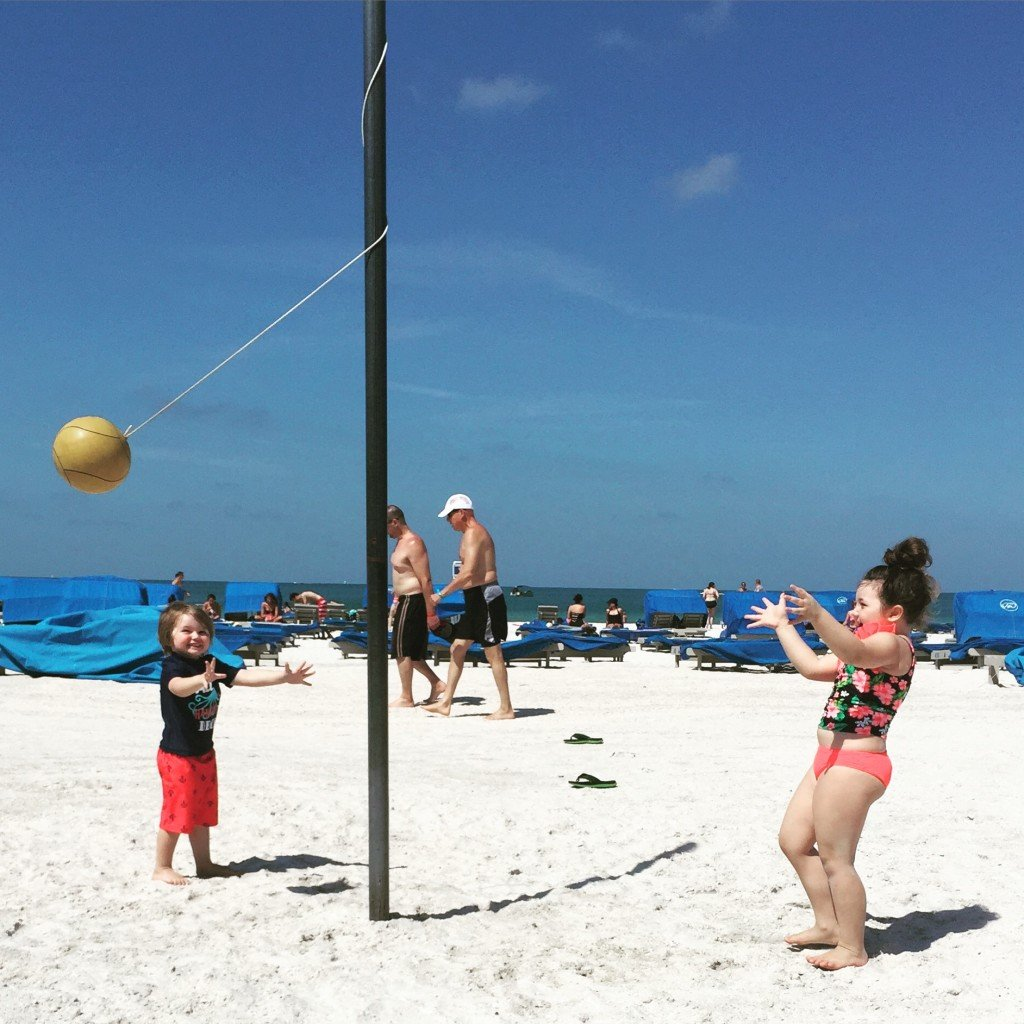Playing on St. Pete Beach