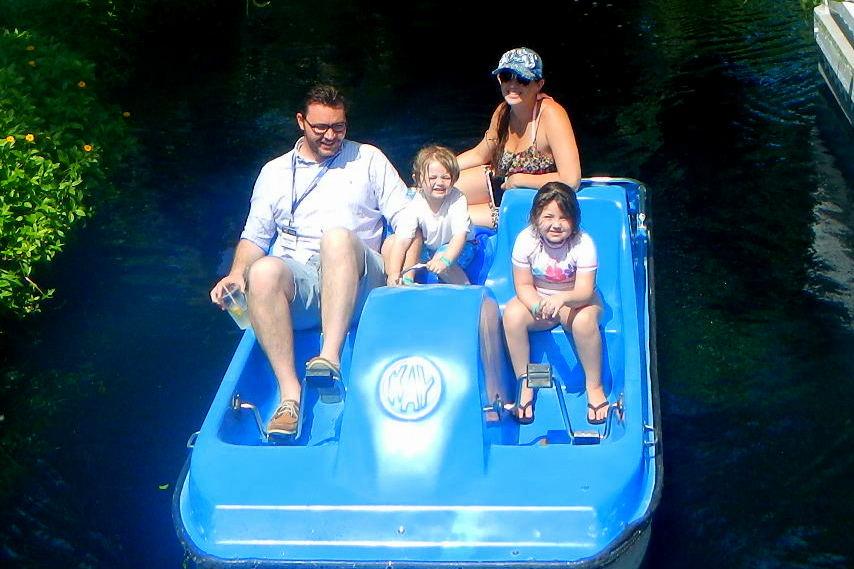 Paddle Boat at Tradewinds Resorts