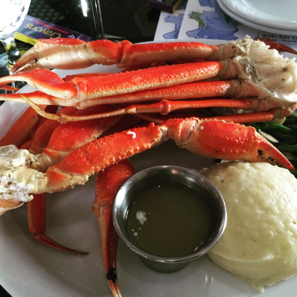 Crab Legs at Bermudas Tradewinds Resorts