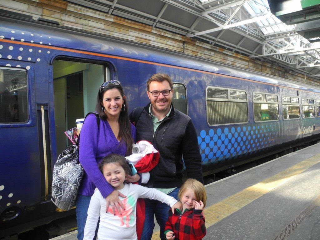 riding scotrail with kids from glasgow scotland