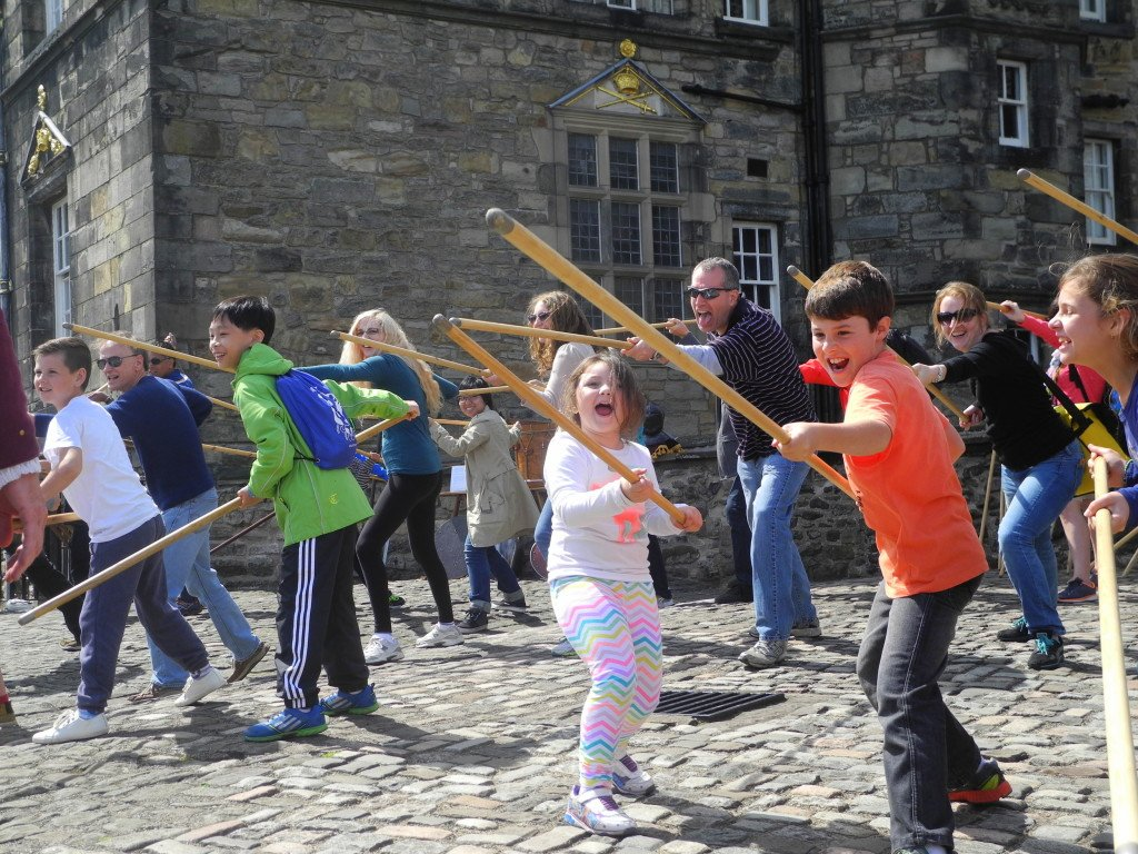Learning the skill of Piking at Edinburgh Castle