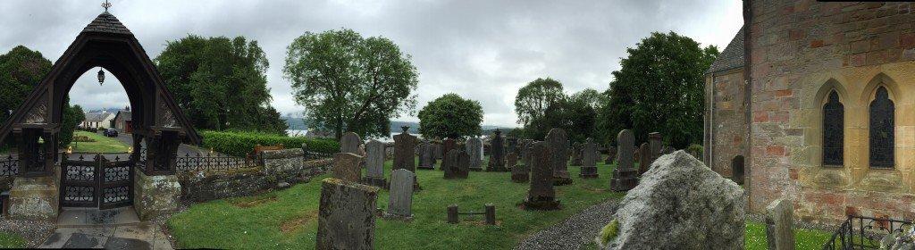 Cemetery in Luss Scotland
