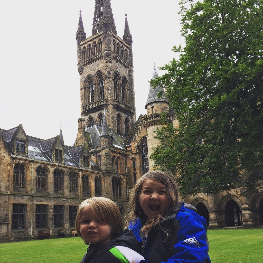 kids at Glasgow University