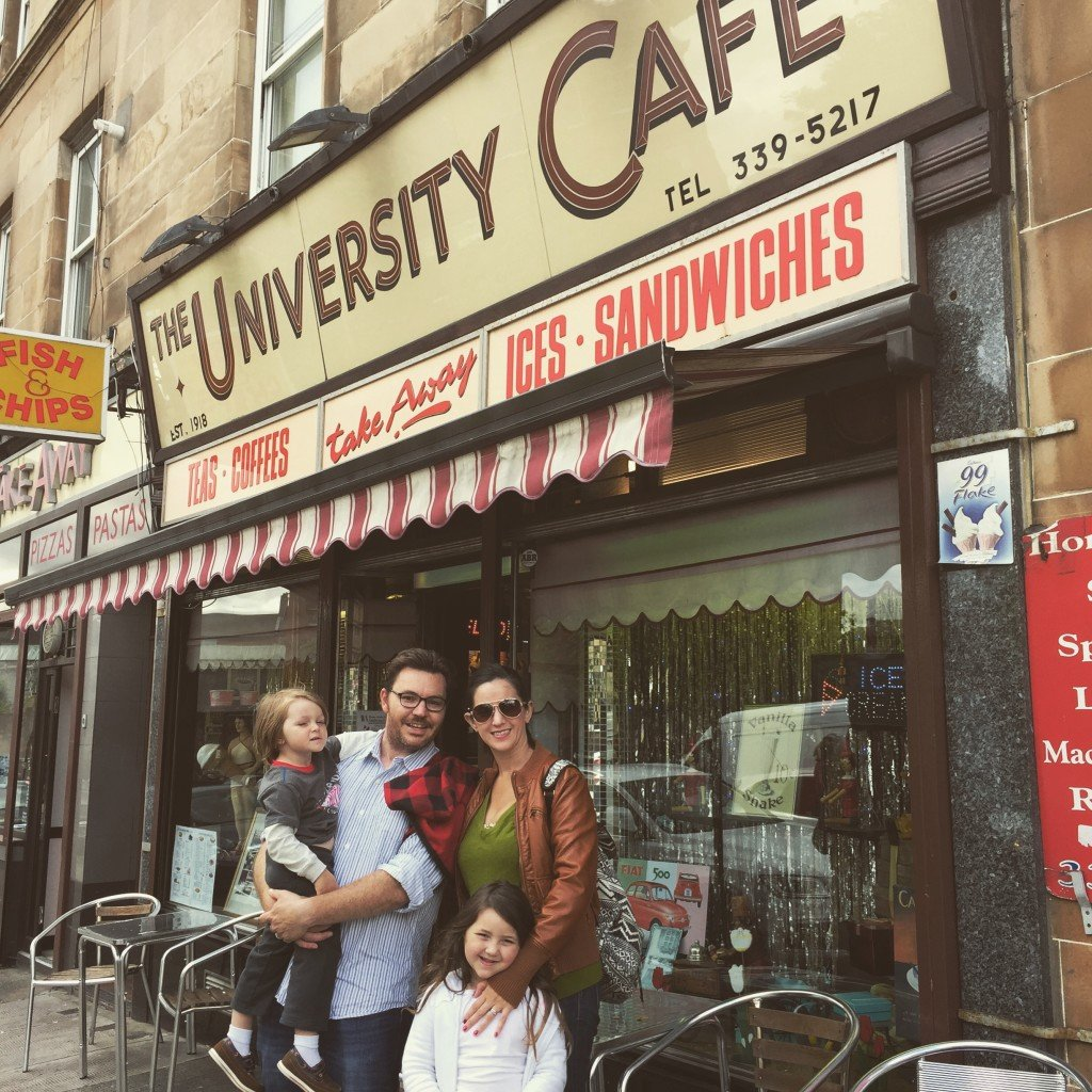 University Cafe Glasgow with kids