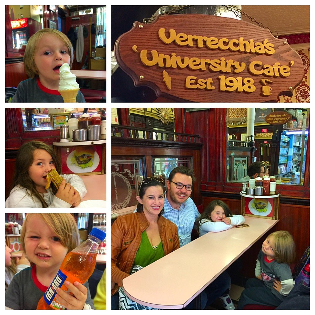 Kids eat ice cream University Cafe
