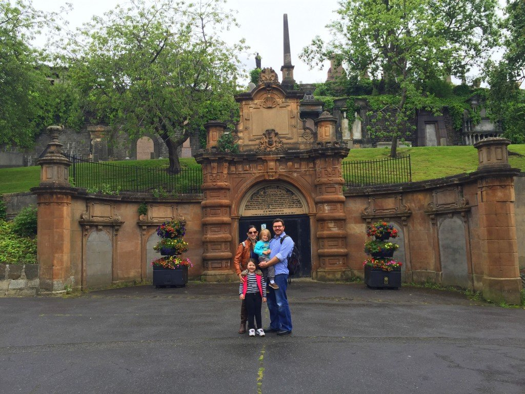 visiting the city of the dead with kids at necropolis in glasgow scotland