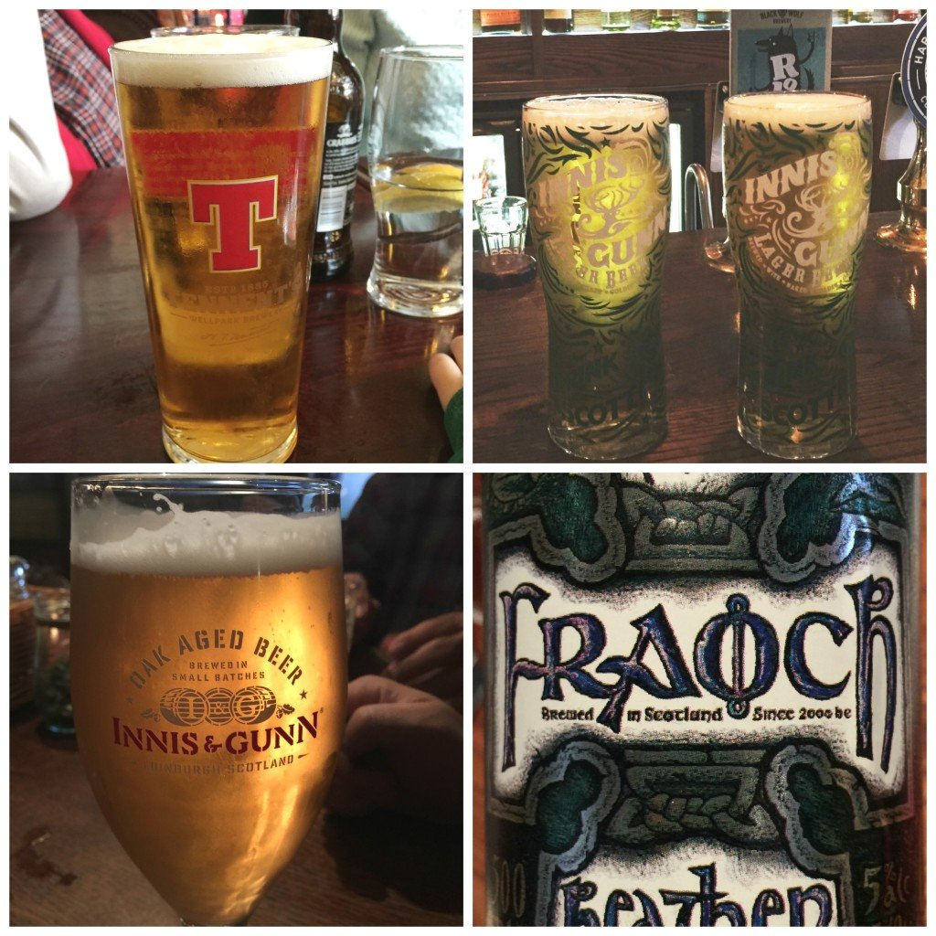 Scottish Beers in Glasgow Bar