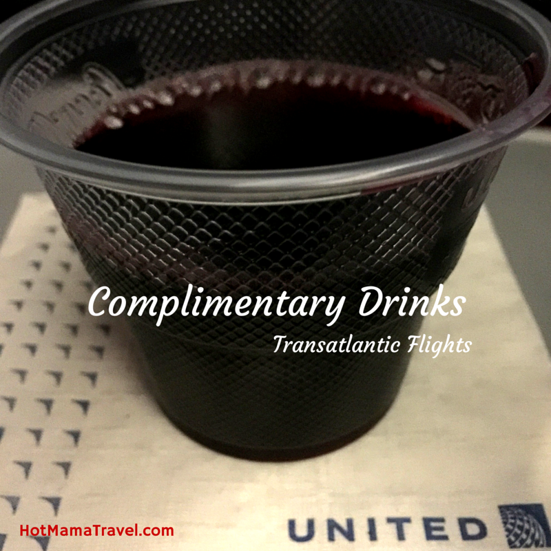 Complimentary Drinks on Transatlantic Flights