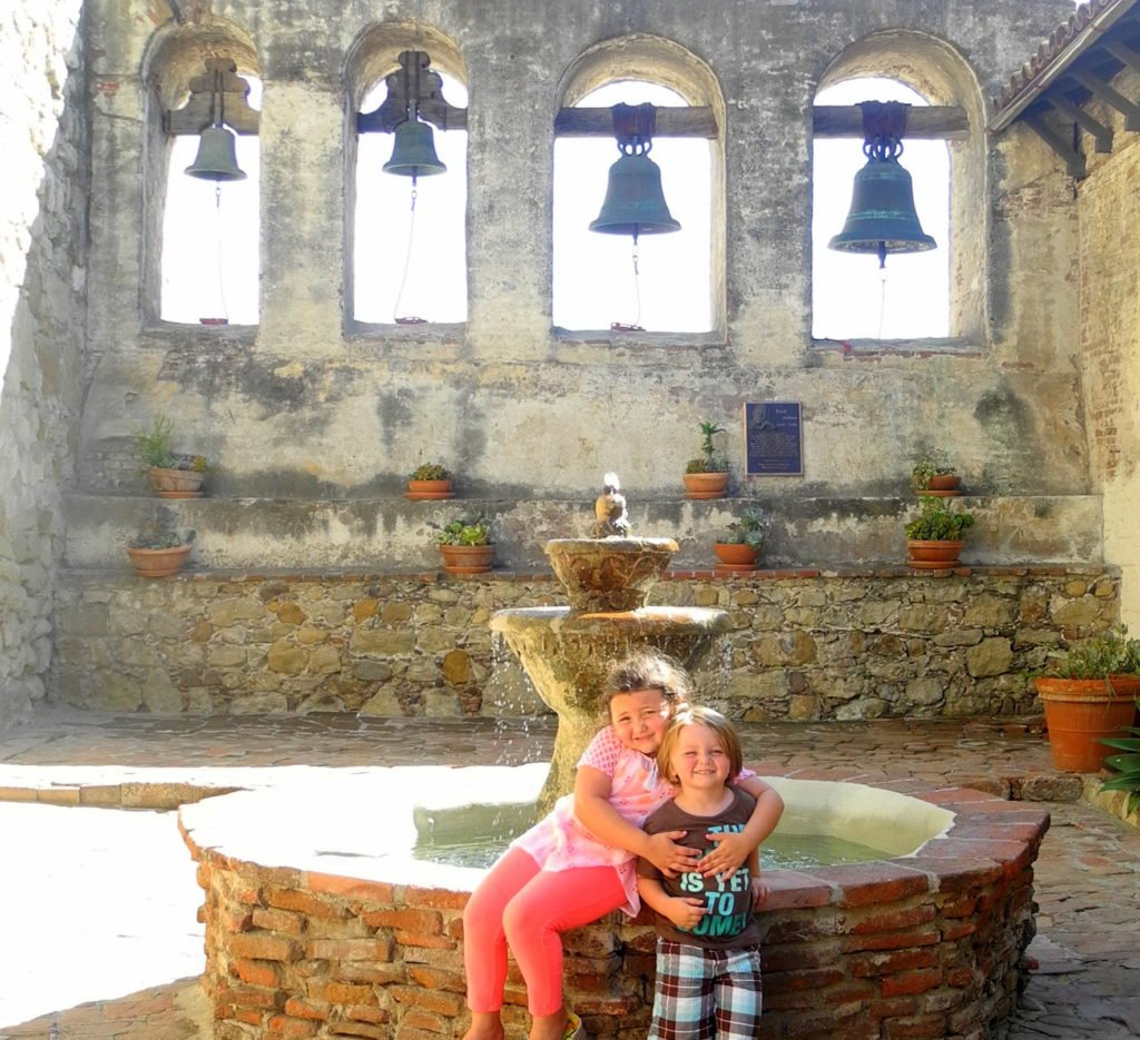 Kids at Mission San Juan Capistrano