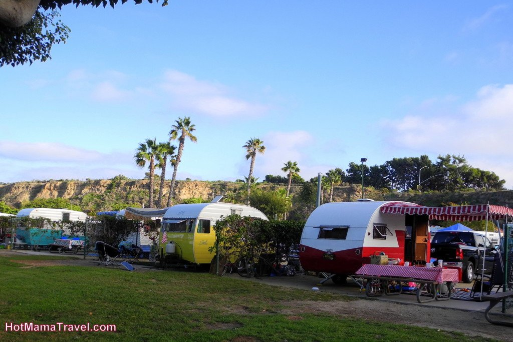 Retro RVs at Newport Dunes