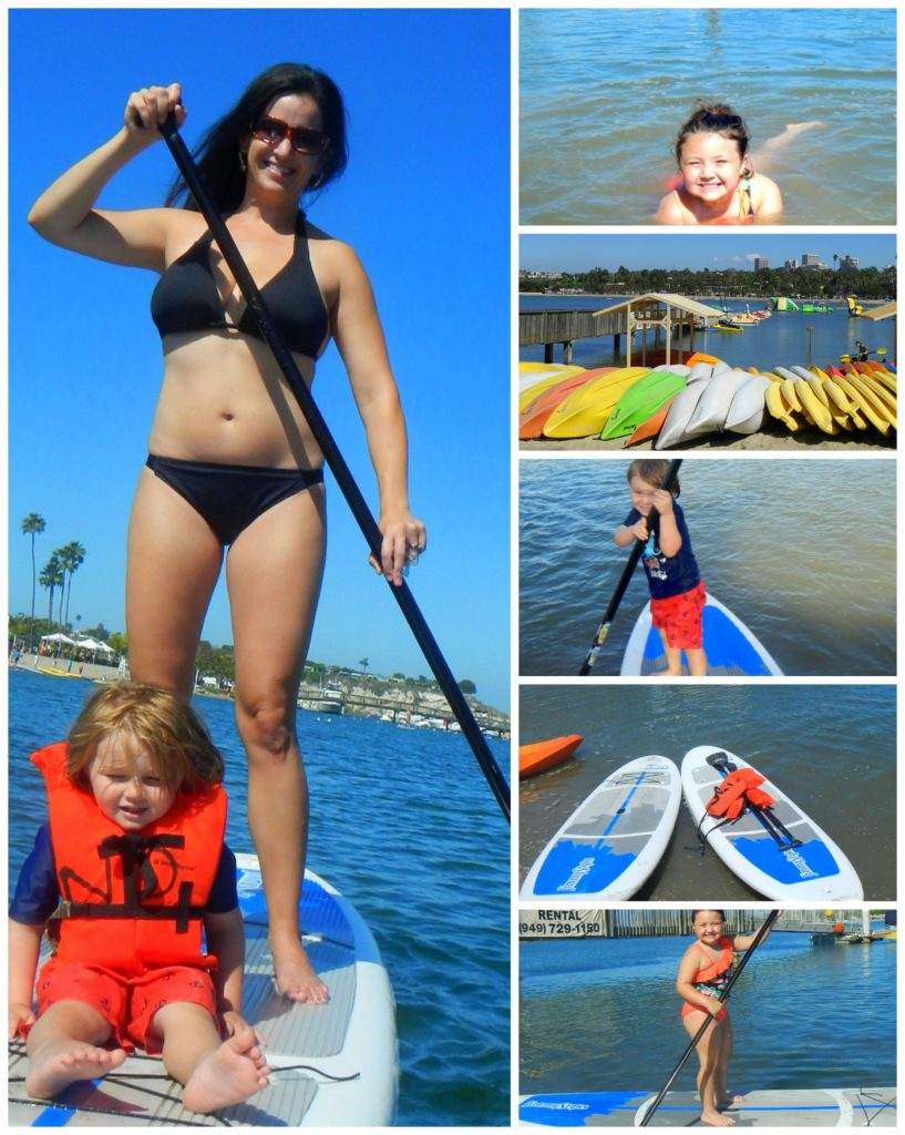Paddle boarding at Newport Dunes