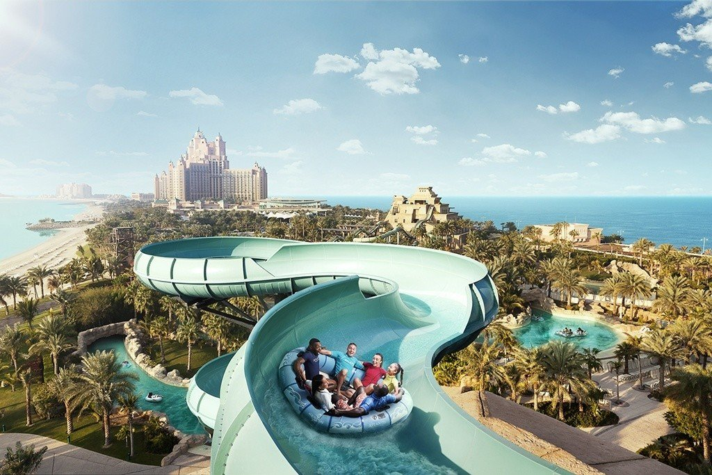 Aquaventure Waterpark Dubai with kids